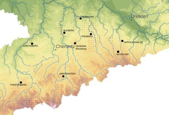 Bergbau Erzgebirge Karte.Fanet Gottlich Montanarchaologische Relikte Des Altbergbaus